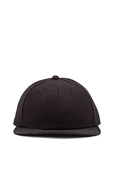 SATURDAYS NYC Canyon Wool Suede Cap in Black