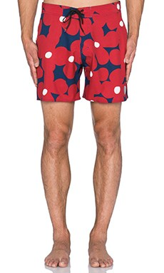 SATURDAYS NYC Danny Boardshort in Red