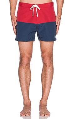 SATURDAYS NYC Ennis Boardshort in Deep Red