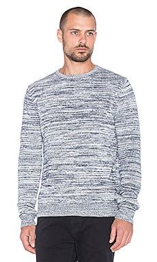 SATURDAYS NYC Everyday Melange Sweater in Navy