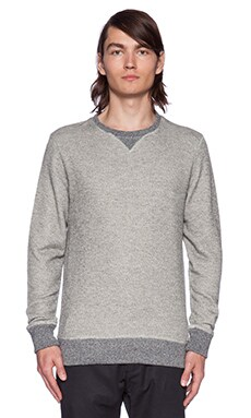 SATURDAYS NYC Bowery Loop Pullover in Grey Heather