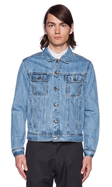 SATURDAYS NYC Emil Denim Jacket in Light Wash