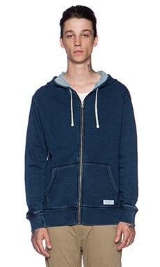 SATURDAYS NYC JP Zip Up in Indigo
