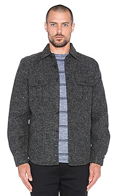 SATURDAYS NYC Jeremiah CPO Jacket in Charcoal Heather