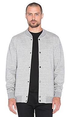 SATURDAYS NYC Wray Varsity Sweater in Ash Heather