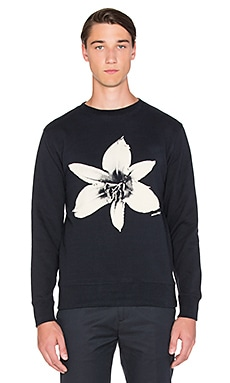 SATURDAYS NYC Bowery Flower Pullover in Black