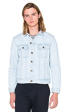 SATURDAYS NYC Emil Denim Jacket in Bleach Washed