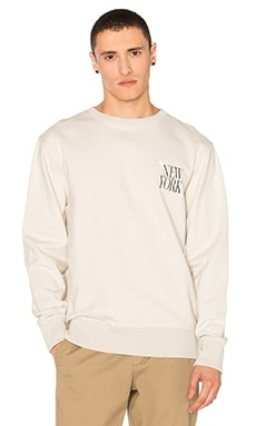 SATURDAYS NYC Bowery NY Slash Pullover in Off White