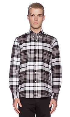 SATURDAYS NYC Crosby Plaid Button Down in Black