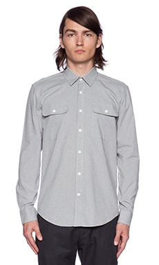 SATURDAYS NYC Angus Nailhead Button Down in Grey Heather