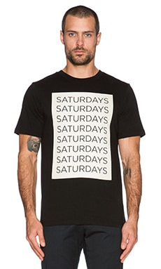 T-SHIRT GRAPHIQUE SATURDAYS BLOCK