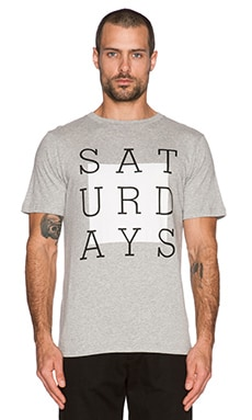 SATURDAYS NYC Slab Box Tee in Grey Heather