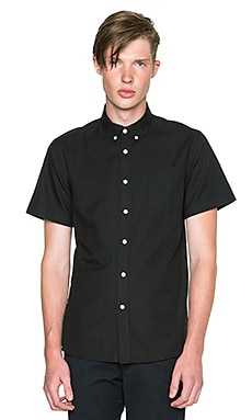 SATURDAYS NYC Esquina S/S Button Down in Black