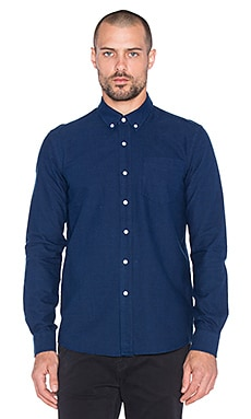 SATURDAYS NYC Crosby Oxford Button Up in Indigo