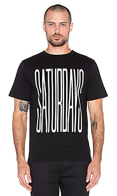 SATURDAYS NYC Stretched Tee in Black