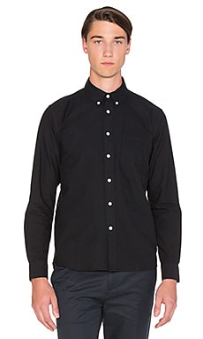 SATURDAYS NYC Crosby Oxford Button Down in Black