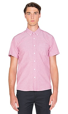 SATURDAYS NYC Esquina Oxford S/S Button Down in True Red