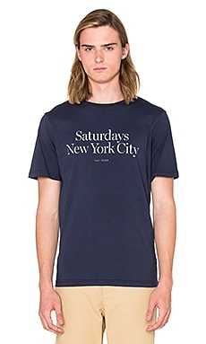 SATURDAYS NYC Miller Standard Tee in Navy