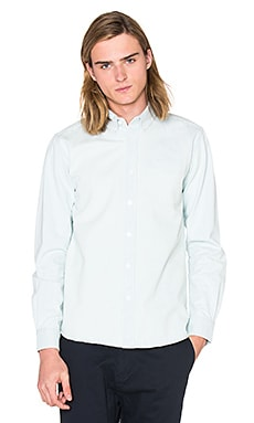 SATURDAYS NYC Crosby Denim Button Down in Bleach Washed