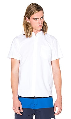 SATURDAYS NYC Esquina Oxford S/S Button Down in White