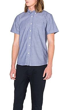 SATURDAYS NYC Esquina Oxford S/S Button Down in Azure
