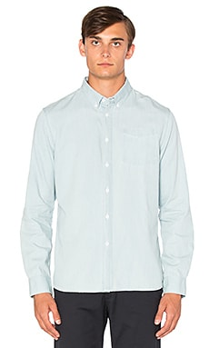 SATURDAYS NYC Crosby Denim Button Down in Washed Indigo