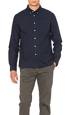 SATURDAYS NYC Crosby Button Down in Midnight