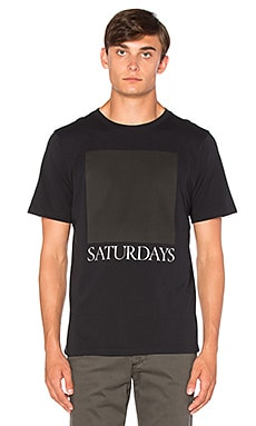 SATURDAYS NYC Chest Square Tee in Black