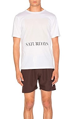 SATURDAYS NYC Chest Square Tee in White