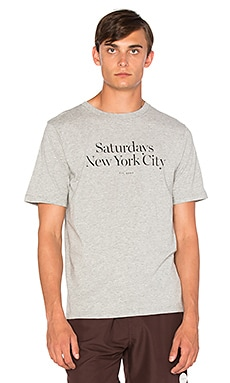SATURDAYS NYC Miller Standard Tee in Ash Heather