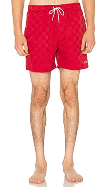SATURDAYS NYC Timothy Board Shorts in Deep Red
