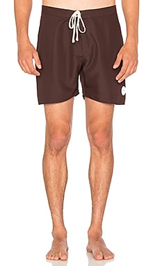 SATURDAYS NYC Colin Seamless Boardshort in Oxblood