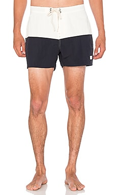 SATURDAYS NYC Ennis Boardshort in Midnight & White