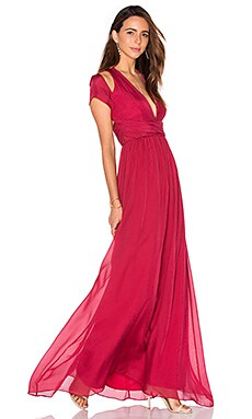 SAU Valentina Gown in Red