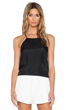 SAU Kara Silk Tank in Black