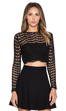 SAU Alexandria Crop Top in Black