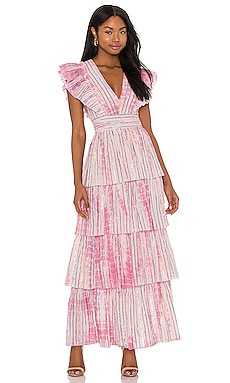 Stefania Maxi Dress SAYLOR $286 BEST SELLER