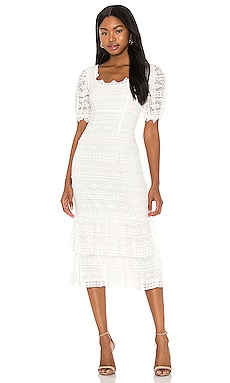 Mica Midi Dress SAYLOR $242 NEW