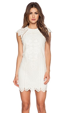 SAYLOR Daniella Dress in Creme