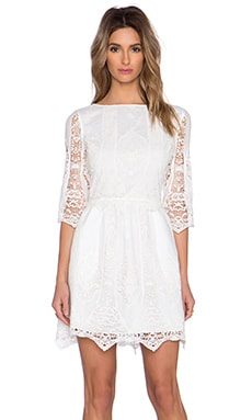 SAYLOR Maggie Dress in Creme
