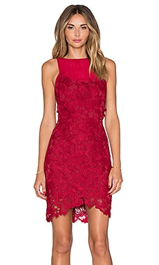 SAYLOR Crista Dress in Rouge