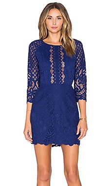SAYLOR Alexandra Dress in Deep Blue