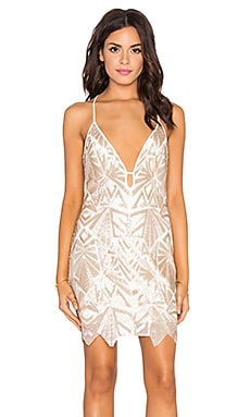 Harper Mini Dress in Rose Gold