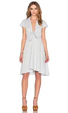SAYLOR Whitley Dress in Blue & Creme