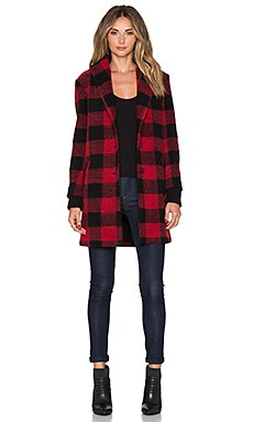 SAYLOR Desiree Jacket in Red & Black