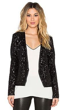 SAYLOR Quinn Sequin Blazer in Black
