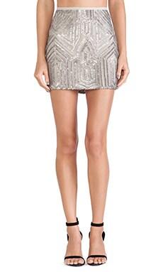 SAYLOR Iris Sequin Skirt in Platinum