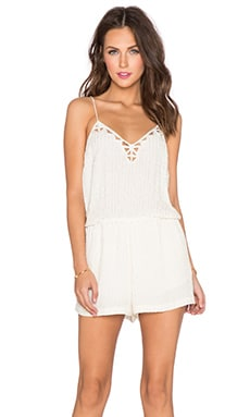 SAYLOR Shelby Romper in Platinum