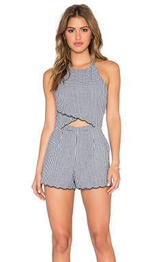 SAYLOR Rose Romper in Black & White