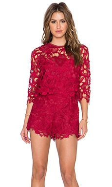 SAYLOR Reagan Romper in Rouge